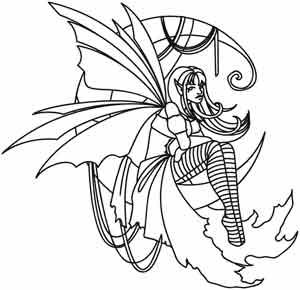 Coloring Page World Moonbeam Fae