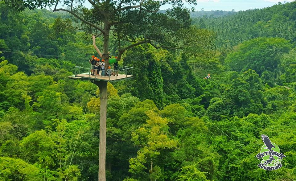 Skyhawk Adventure Zip Line in Koh Samui