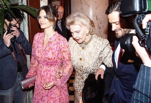 Princess Sofia wore a new ByTiMo dress from the Fall Winter 19 collection. Charlotte Bonde Louise RIbbon amazon earrings