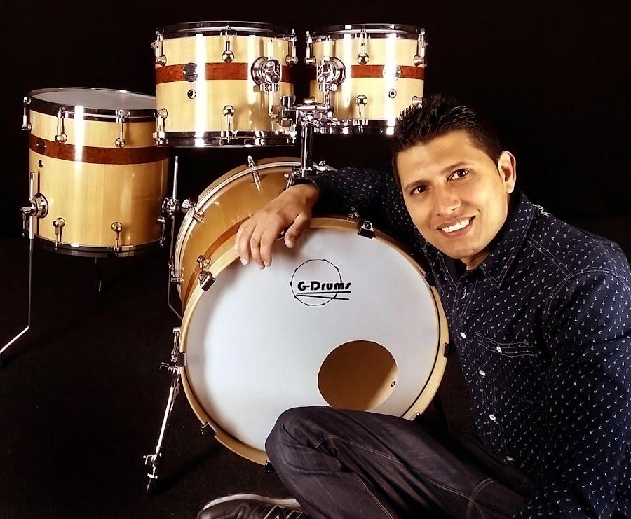 Dani Morales con su kit Luxury de G-Drums