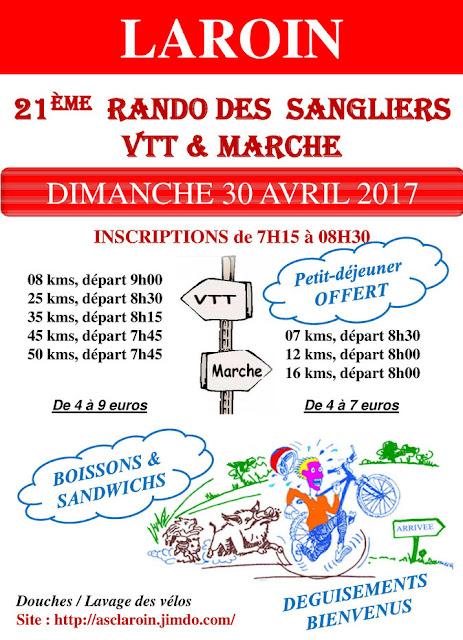 Randonnée des Sangliers 2017 Laroin