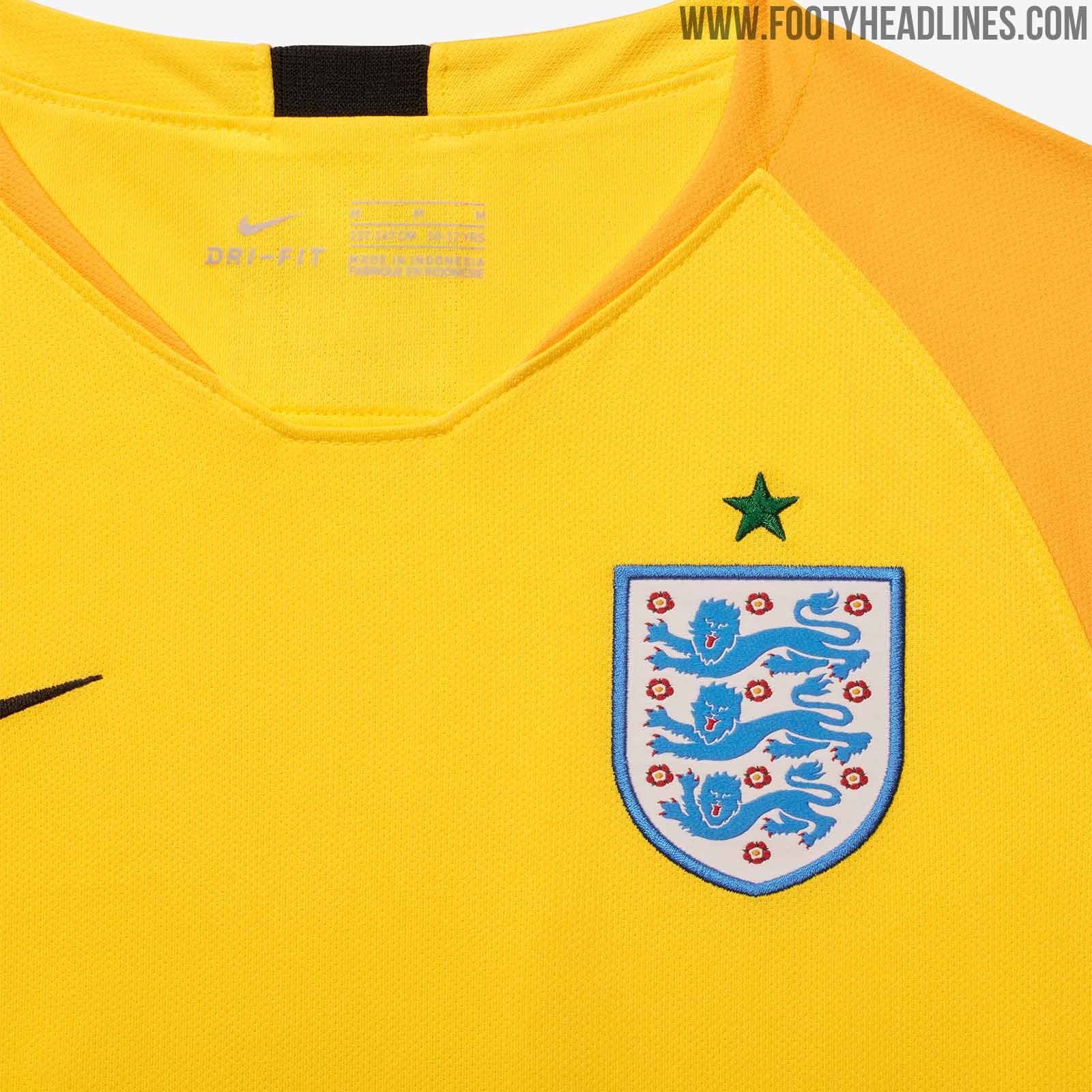 f3a397d96fa Oddly enough, the star above the crest is green to mirror the sleeve  graphic. What do you think of the England 2018 World Cup goalkeeper kit?