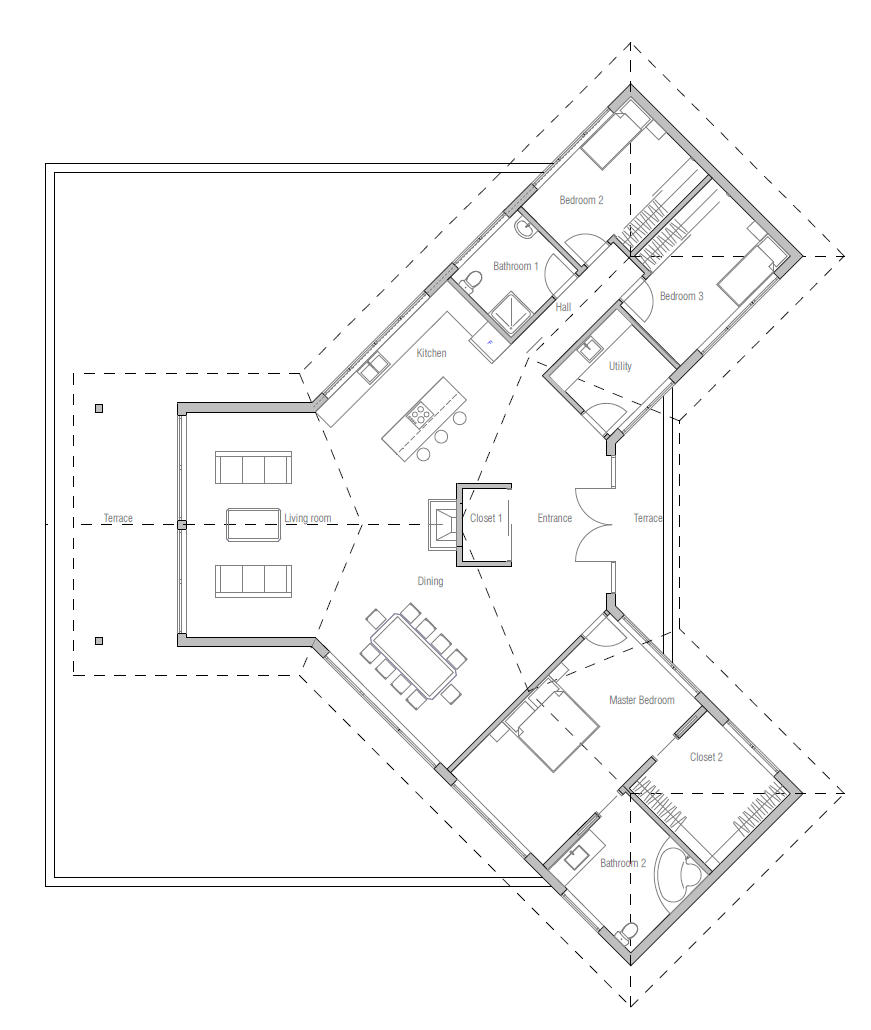 Floor plan of small houses besides Modern Dog Trot Home Plans likewise Best Open Floor House Plans together with Open Floor Plan House Plans likewise 114099335. on lake house plans modern farmhouse