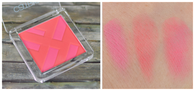 Catrice graphic grace LE powder blush CO1 structured shapes und Swatches