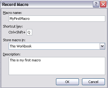 Excel In Your Office: VBA - Record A Macro