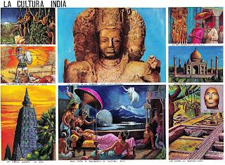 La cultura india [Lámina escolar]
