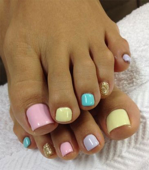 Easter Toe Nail Art Designs & Ideas 2019