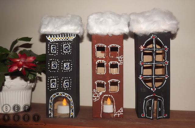 domki z kartoników po mleku