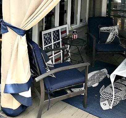 Old outdoor deck furniture