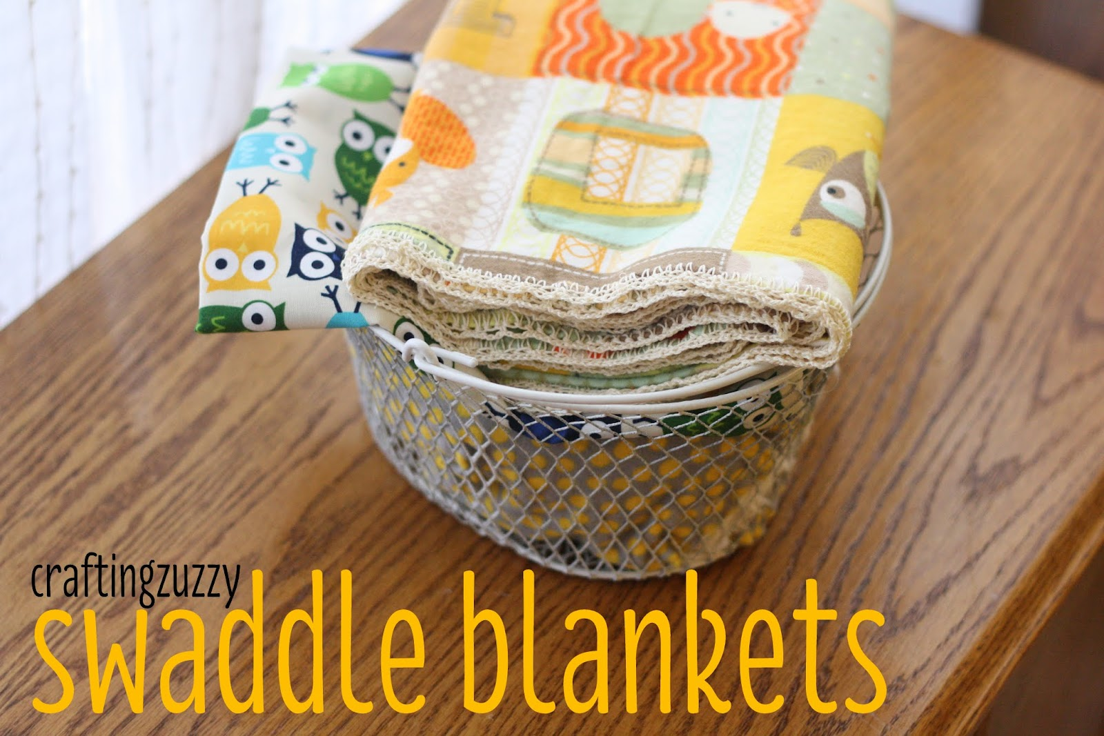 Crafting Zuzzy  Baby Swaddle Blankets with Crochet Edging a7fcad7d0