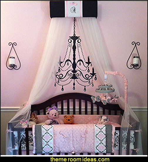 Crib Nursery Embroidered Personalized Bed Canopy Black Pink Paris   Paris themed bedroom ideas - Paris style decorating ideas - Paris themed bedding - Paris style Pink Poodles bedroom decorating -  French theme Paris apartment furniture - Paris bedroom decor - decor Paris style French Poodles - room decor french poodle - Paris Postcard bedding - Paris themed teenage bedroom ideas - Paris eiffel tower decor - decorating ideas for paris themed bedrooms - Paris Inspired Nursery - Paris bedrooms - Poodles in Paris