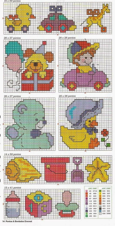 Hobby lavori femminili ricamo uncinetto maglia mini for Schemi punto croce per bavaglini