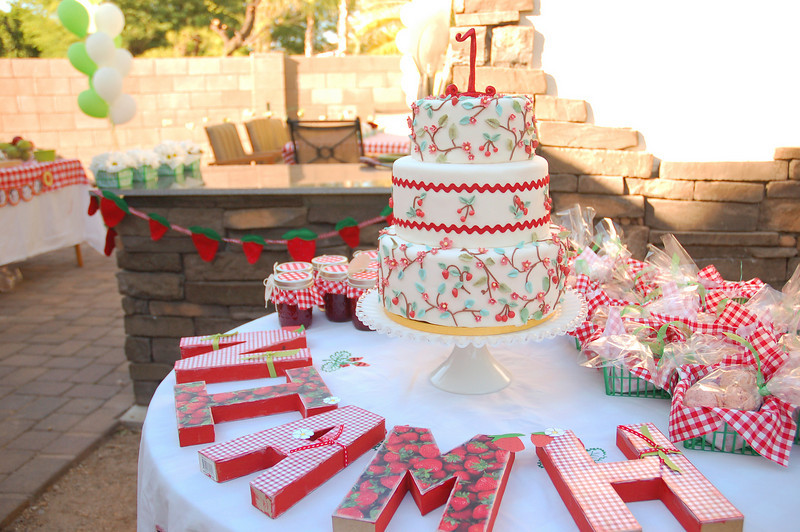 Tradewind Tiaras: Strawberry Picnic First Birthday