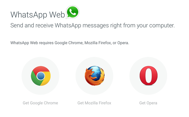 WhatsApp Web on Firefox and Opera