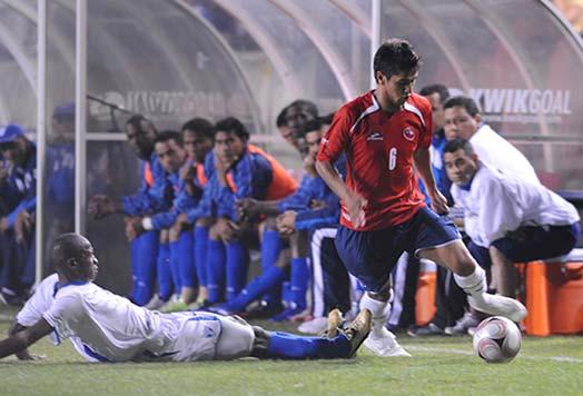 Honduras y Chile en partido amistoso, 18 de enero de 2009