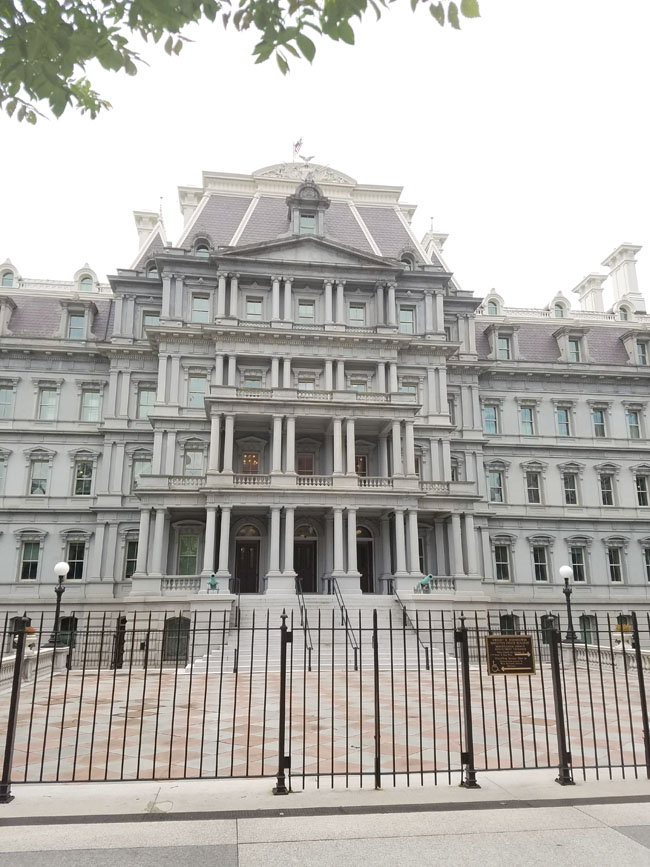 black fence - executive office building