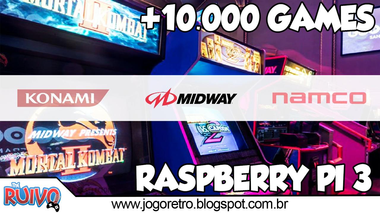 Raspberry Pi 3 - Recalbox Batocera 128GB com 10 597 GAMES