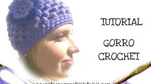 Tutorial / Gorro crochet en punto puff - con video y paso a paso