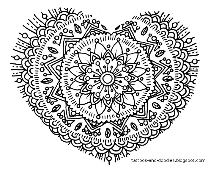 Tattoos and doodles: Hearts doodles