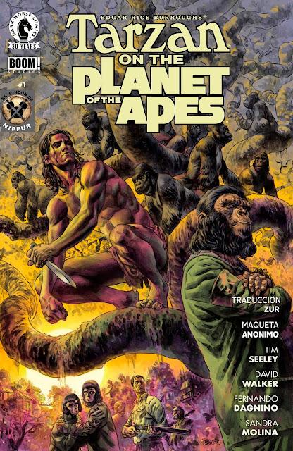 Tarzan en el Planeta de los Simios - Comic - Español - Portada