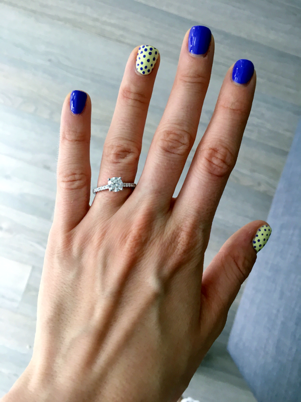 Pave Engagement Ring 2017, China Glaze Whip It Good, China Glaze I Got a Blue Attitude - Tori's Pretty Things Blog