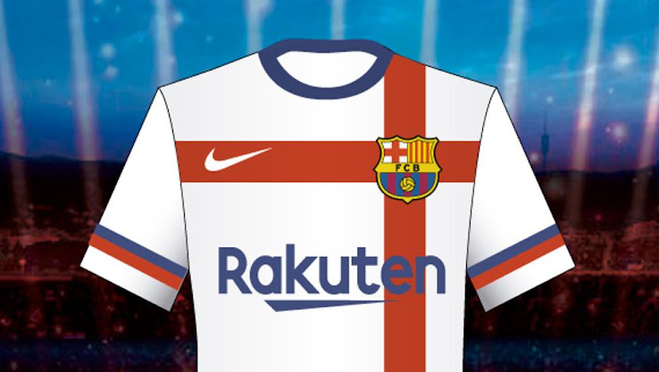 Barcelona Rejected White 2020-21 Away Kit Proposed by Nike - Footy