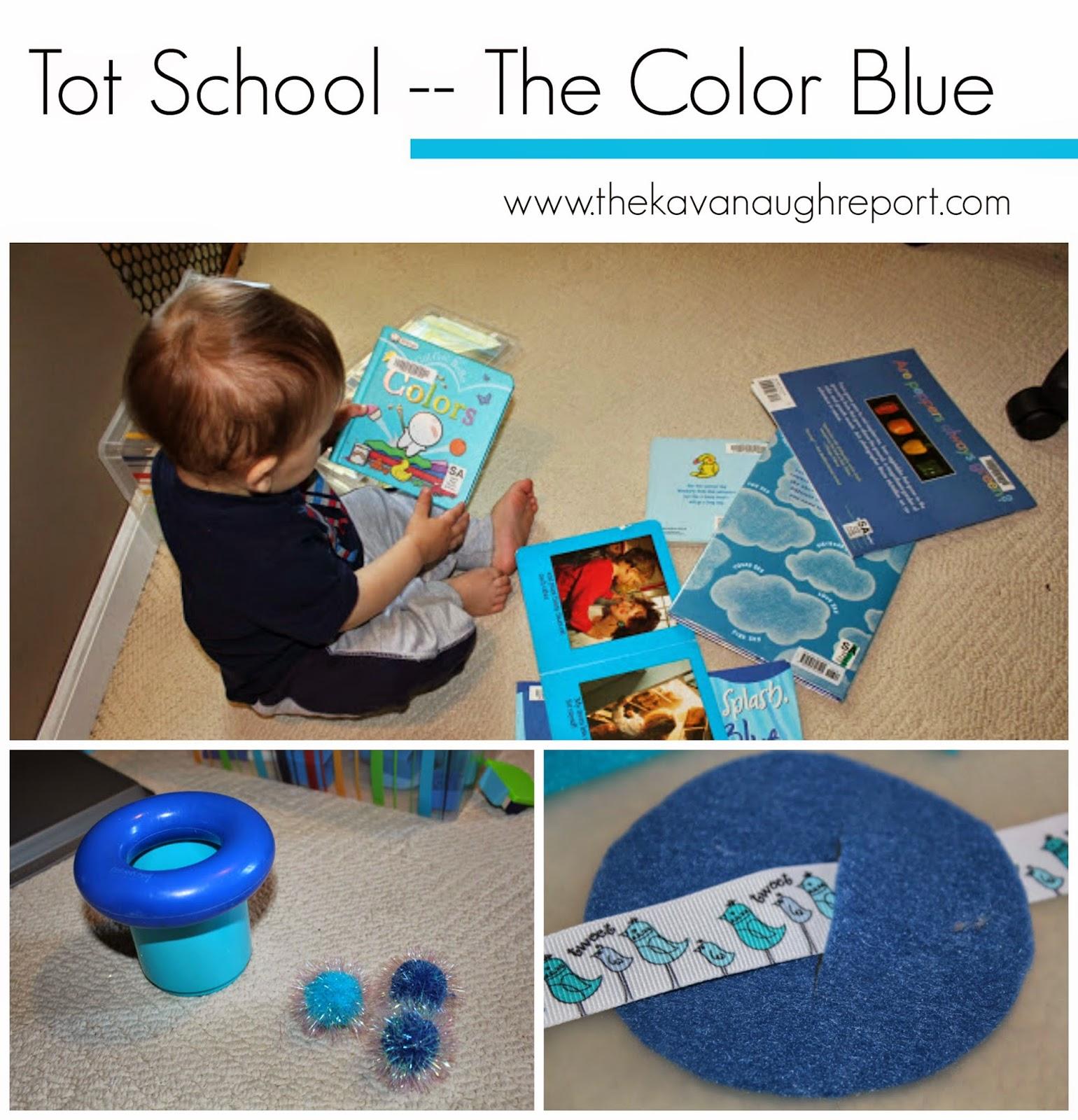 Color Blue At Tot School