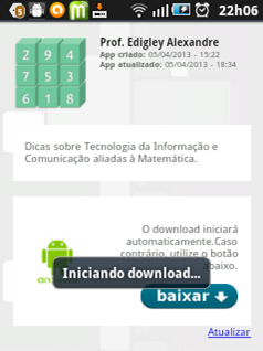 Tela inicial - download