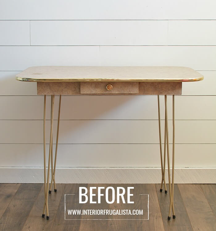 Arborite Retro Dining Table Before
