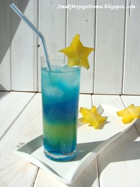 Tęczowy drink Blue Curacao