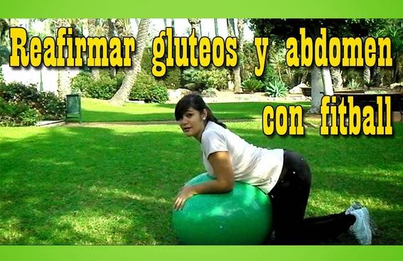 reafirmnar gluteos y abdomen con fitball