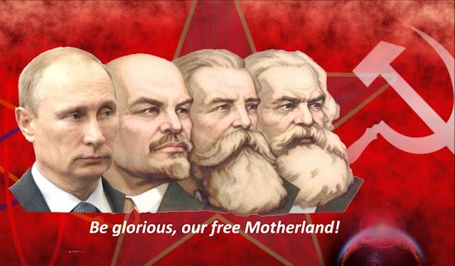 Putin, Lenin, Engels, Marx: a continuidade em metamorfose