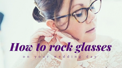 If glasses are a big part of your look, don't ditch them when it comes to your wedding day -Wedding Soiree Blog by K'Mich, Philadelphia's premier resource for wedding planning and inspiration - glasses