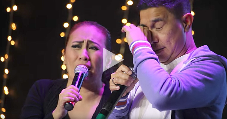 "Jose Manalo sings ""God Gave Me You"" while crying"