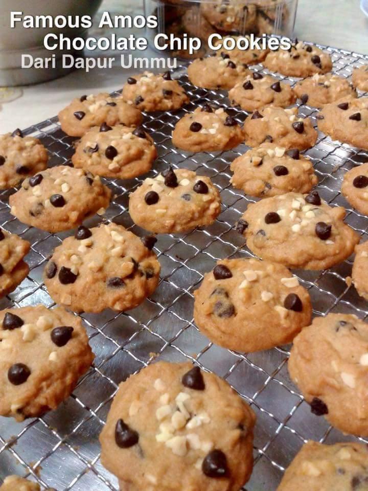 Resepi Famous Amos Chocolate Chip Cookies Resepi Kek Biskut Raya