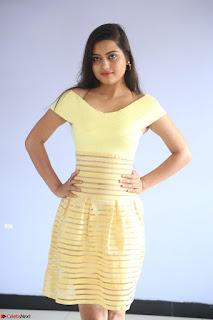 Shipra gaur in V Neck short Yellow Dress ~  056.JPG