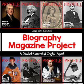 Fabulous project on Google Slides that you can have your students complete for any biography subject.