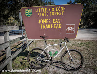 Snow Hill MTB Trails in Little Big Econ State Forest, Oviedo, Florida