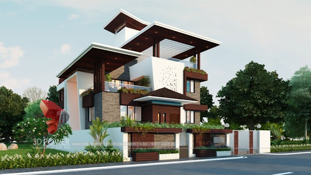 Lavish Bungalow Design Rendering