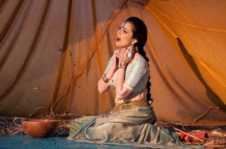 Soula Parassidis as Leila in Les Pecheurs de Perles at Opera Holland Park. Picture Fritz Curzon, 2013