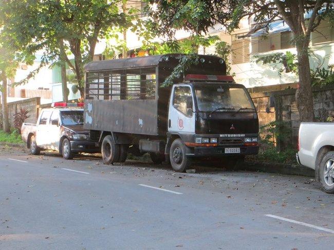 полицейский грузовик в краби таун, Таиланд