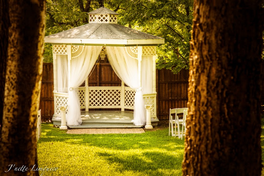 This Gazebo Was So Pretty I Excited To Be Able Decorate It Used Lots And Of White Tulle Then Added A Crystal Chandelier In The Middle