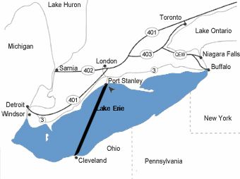 lake erie ferry map Lake Erie Winds Lake Erie Ferry Service Closer To Reality lake erie ferry map