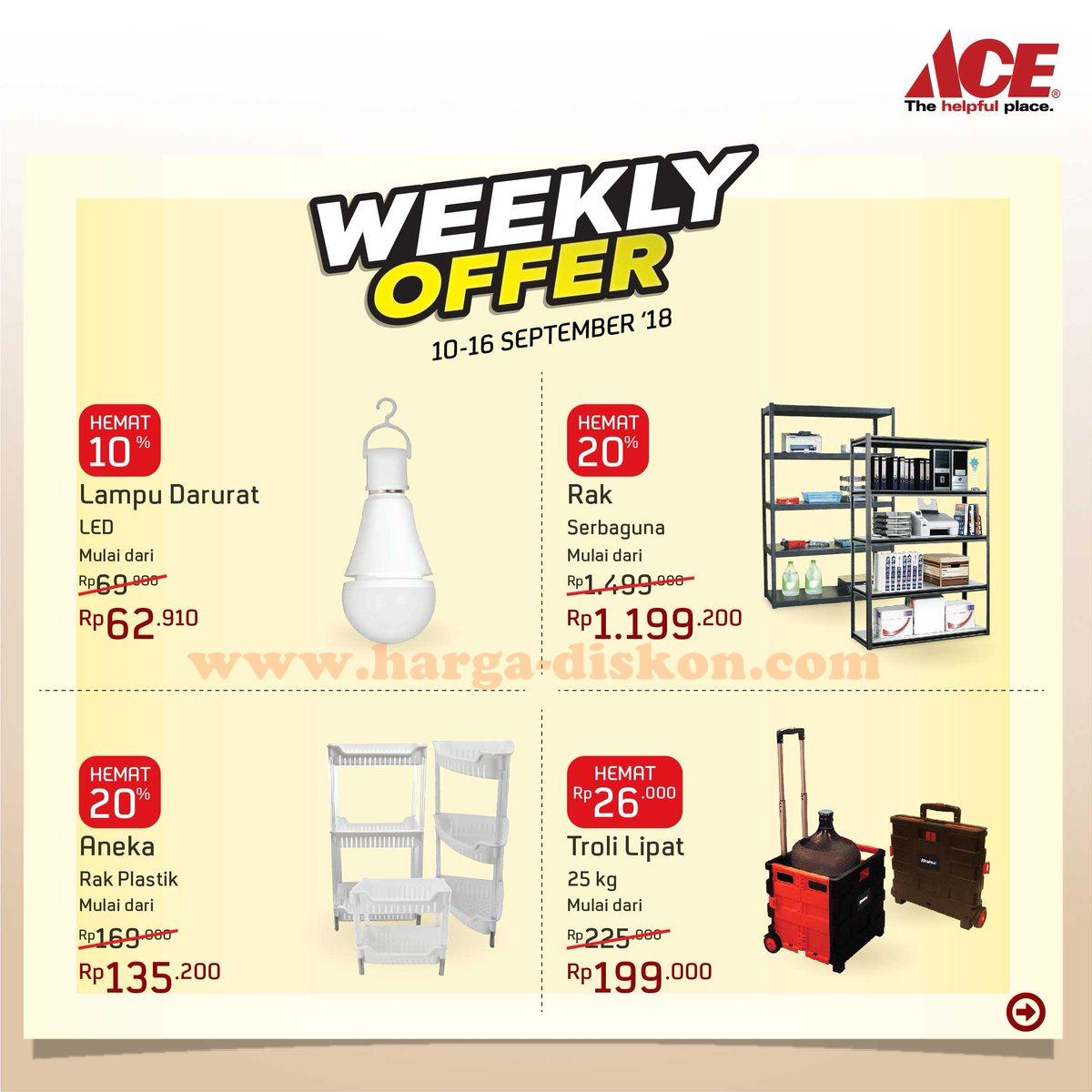 Promo Ace Hardware Weekly Offers Periode 10 16 September 2018