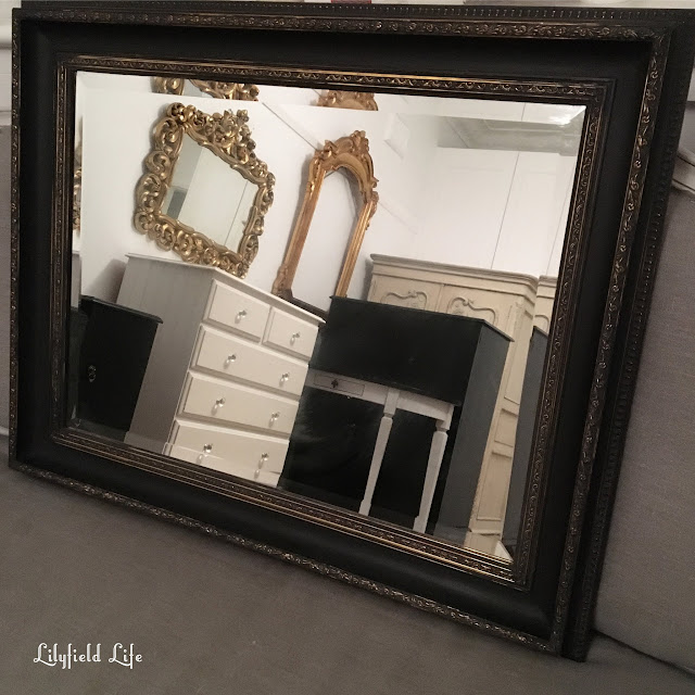 gold and black vintage mirror Lilyfield Life