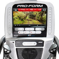 "10"" full-color Smart HD touchscreen on ProForm Cardio HIIT Trainer Pro"