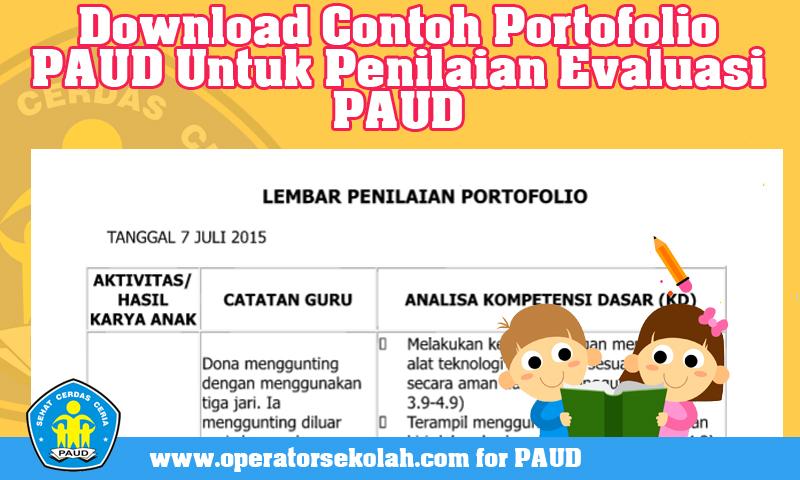 Download Contoh Portofolio PAUD Untuk Penilaian Evaluasi PAUD.jpg