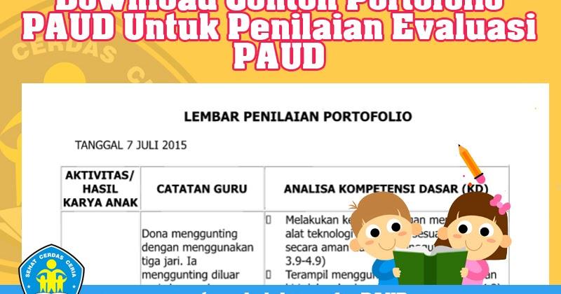Download Contoh Portofolio Paud Untuk Penilaian Evaluasi Paud