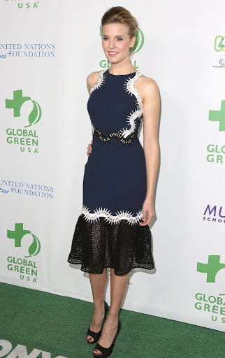 Maggie Grace Global Green USA Pre-Oscar 2016 Party red carpet dresses