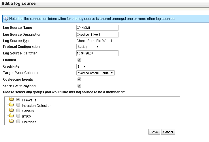 Configuring Checkpoint Gateway Forwarding Logs to External